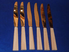 vintage LOT 6 ancien COUTEAU inox FRANCE knife MESSER art deco plastic 1960-1970