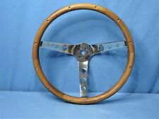 Rare! Vintage Original '60s Grant Wood Three Spoke Fingergrip Steering Wheel
