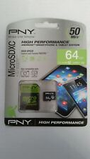 PNY High Performance Android Smartphone Edition 64GB Micro SDXC Card & Adapter