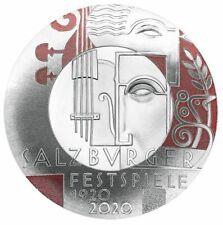 Österreich 20 Euro 100 Jahre Salzburger Festspiele Silber Spiegelglanz  PP