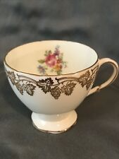 EB Foley bone china cup. Made in England. Beautiful hand painted, gold top