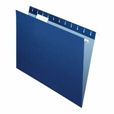 Office Depot Brand 2-Tone Hanging File Folders, 1/5 Cut, Letter Size, Navy, 25Pk