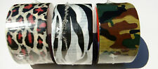Cool Duct Tape Assortment (12), Camo, Cheetah, Zebra Prints,  Wholesale Price