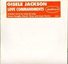GISELE JACKSON love commandments GISDJ 1 promo uk manifesto DOUBLE LP PS VG/EX