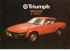 Triumph TR7 brochure septembre 1977, pour l'année modèle 1978