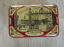 Ancienne Boîte Bergamotes de Nancy A.Lalonde Confiseur Macarons Chocolat de Luxe