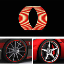 "18"" Motorcycle Car Carbon Fiber Sticker Reflective Wheel Hub Tire Rims Stickers"