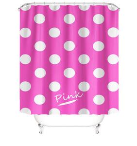 Pink Bathroom Rug Set Shower Curtain Bath Mat Pedestal Mat Toilet Lid Cover
