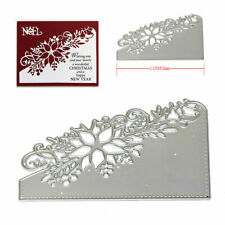 Christmas Crafts Metal Cutting Dies Xmas DIY Postcards 3D Stamp Flower Corner