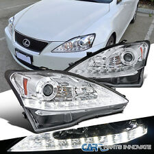 2006-2009 Lexus IS250 IS350 Chrome SMD LED Strip Projector Headlights+LED Signal