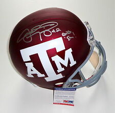"JOHNNY MANZIEL SIGNED ""GIG 'EM!"" TEXAS A&M CUSTOM #2 FULL SIZE HELMET PSA R83465"