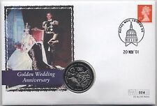 Golden Wedding Anniversary Crown Coin Cover | Very Low Issue 004 | Pennies2Pound