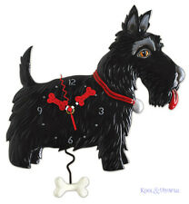 Fabulous Black SCOTTY DOG Designer Wall Clock by Allen Designs Scottish Terrier