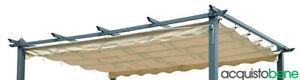 Top Telo copertura di ricambio retrattile per Pergola gazebo giardino 3x4 metri