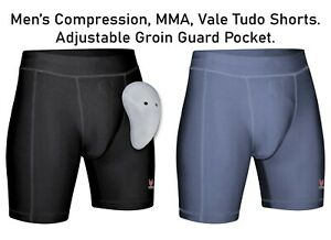 MERAKI MMA Compression Shorts VALE TUDO Fight Short UFC Grappling Thai Boxing