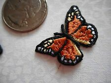 THREE Mini-Monarch Machine-embroidered applique, patch, beautifully done