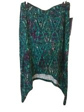 Ruff Hewn Women's Skirt Graphic Green Size M