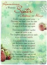 "Loving Memory Christmas Graveside Memorial Card - Wonderful Sister 6.5"" x 4.75"""