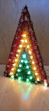 Blinkender Weihnachtsstern Pyramide Advent bunt 49 Lichter Rar selten Kult Deko