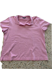 Lands End Girls Pink Uniform Polo Shirt Sz M (10-12)