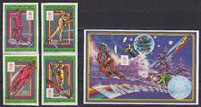 Komoren Comores 1988 Mi. 807-10 B, Bl. 244 B ** Olympia Olympic Calgary