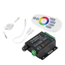 Sound Audio LED RGB RF Music Controller Touch Remote 2 Channel 12/24V 18A GU