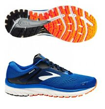 Brooks Mens Adrenaline GTS 18 Blue Lace up Running Gym Shoes Trainers