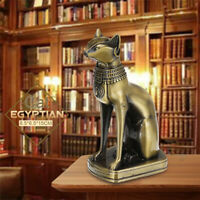 Large Egyptian Cat Ornament Retro Bronze Alloy Decor Gift Collection Sculpture
