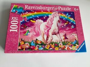 100 Pieces XXL Puzzle - Pferdetraum With Glitter - Ravensburger - 100% Complete