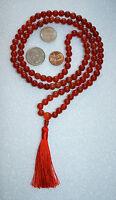 Carnelian Handmade Mala Beads Necklace -Blessed & Energized