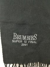 Act Brumbies scarf 2001 Super 12 Grand Final rugby union black