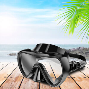 Scuba Diving Mask Anti Fog Half Face Dry 180° Swimming Goggles For Adult Glasses