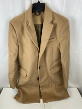 Topman Wool Blend Overcoat Brown size Medium