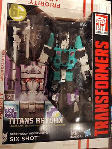 Transformers TR SIXSHOT & Revolver - Leader New Titan Returns