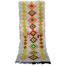 Vintage RUNNER rug Beni Ourain Moroccan Azilal bojaad handmade 7 FT X 2.8 FT rug