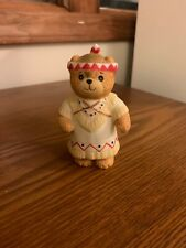 Lucy & Me Bear Indian with Baby Rigg Enesco Figurine