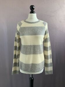 "CLEMENTS RIBEIRO Gorgeous 100% Cashmere Breton Stripe Jumper Size L 38"" Chest"
