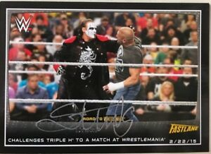 2015 TOPPS WWE Autograph Sting #93 LOOK