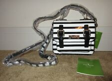 Kate Spade Black/Cream Strip SCOUT Crossbody Bag ~ Darling Size and Details NWT!