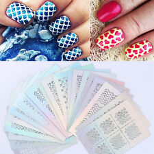 24 Sheet Nail Art Transfer Sticker 3D Design Manicure Tips Decal Decoration Tool