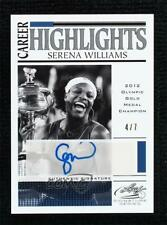 2017 Leaf Signature Series Career Highlight Blue 4/7 Serena Williams Auto