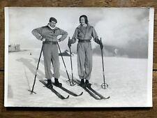 Photo 18x12 SKIEUR EN COMBINAISON Superbagnères Pyrénées SKI 1930 Sports d'hiver