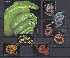 Tanzania 1996 - Block + Set - Reptielen / Reptiles / Reptilien (Slangen / Snakes