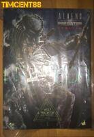 Ready Hot Toys MMS443 Aliens vs. Predator Requiem Wolf Predator Heavy Weaponry