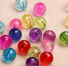 6-30 mm, Acrylic Glass Round Faceted Loose Spacer Beads Jewelry Making Craft B11