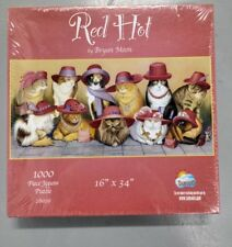New Sealed Suns Out 1000 Piece Jigsaw Puzzle Red Hot Bryan Moon Cats In Hats