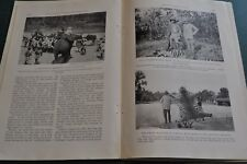 1924 TIGER HUNTING IN INDIA magazine article, hunting expedition, natives etc