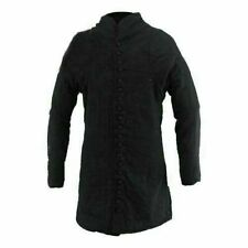 Black Gambeson Full Sleeve With Padded Shoulders 15th Century
