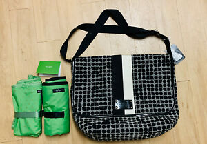 Kate Spade Classic Noel Henry Fabric/Nylon Diaper Bag With 2 Mats   NWT     $455