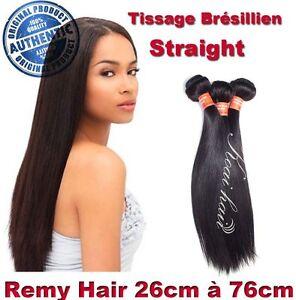 TISSAGE BRESILIEN 100% NATUREL LISSE STRAIGHT VIRGIN HAIR REMY 26CM-76CM 100G 5A